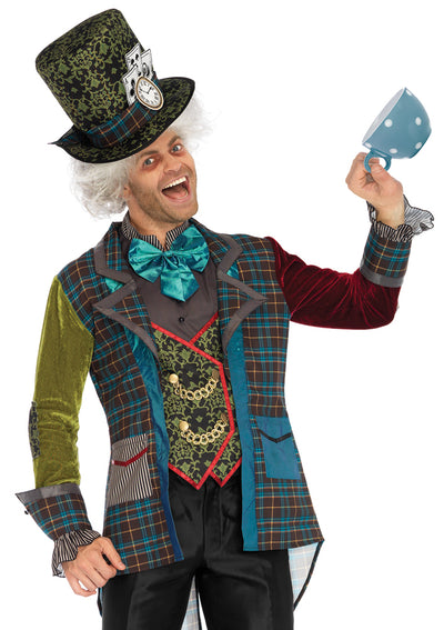 Leg Avenue Male 3PC.Deluxe Mad Hatter Costume 86691