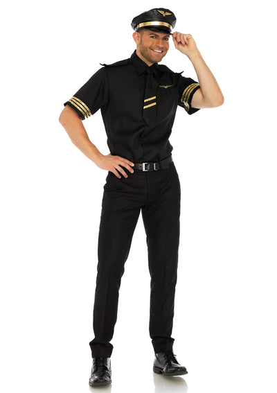 Leg Avenue Male 3PC.Flight Captain Costume 86685