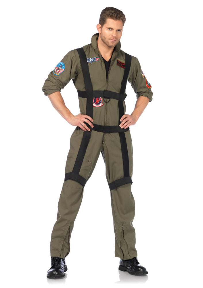 Leg Avenue Male 3PC.Top Gun Paratrooper Costume TG85513