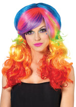 Leg Avenue Rainbow Rocker Multi-Color Wig A1977