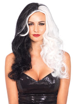 Leg Avenue Two Tone Long Wavy Villain Wig A2672