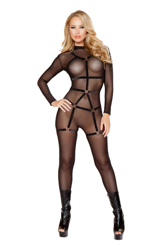 1Pc Cage Romper Straps With Rings  - Fashion