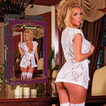 Magic Silk Female Angelic Lace Wrap & G-String Strg Set B506