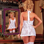 Magic Silk Female Plus Size Angelic Lace Baby Doll & G-String B807