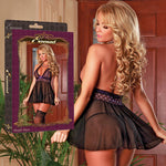 Magic Silk Female Plus Size Haze Babydoll & Split G B988