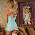 Magic Silk Female Wild Orchid Bustier Chemise& G-String B674