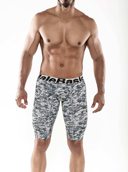 Malebasics Mens Base Layer Performance Boxer Brief Camo Large - Underwear For Men Lingerie
