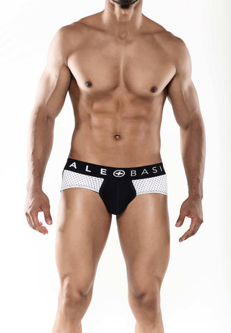 Malebasics Mens Fashion Microfiber Racing Hip Brief Black - Underwear For Men Lingerie