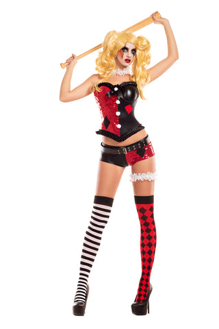 Party King Female No Good Harlequin Costume PK711