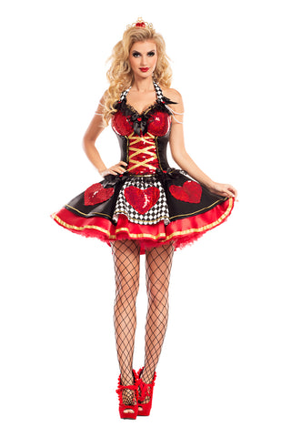 Party King Female Off With Their Heads Queen Of Hearts Costume PK748