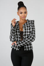 Pearlescent Blazer BLACK