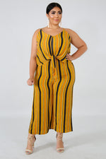 Plus Size Gorgeous Foxy Jumpsuit MUSTARD