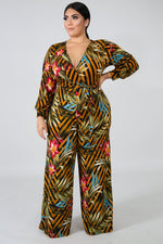 Plus Size Make A Toast Jumpsuit MULTI PRINT