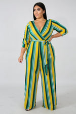 Plus Size Meadow Palazzo Jumpsuit MULTI PRINT