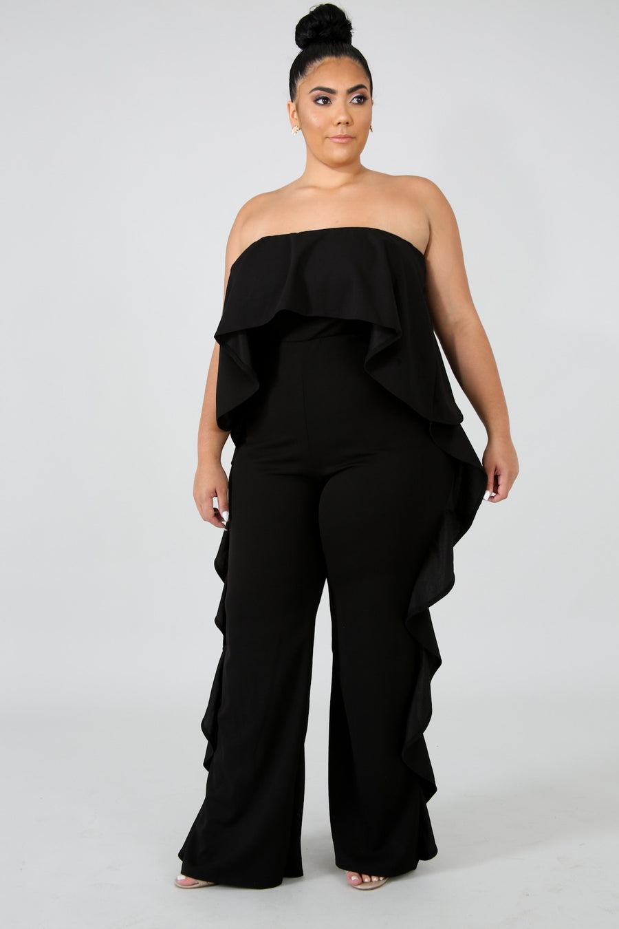 017210760c71 Plus Size Ruffle Tube Jumpsuit – utrendfashion.com