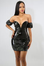 Puff Barbie Body-Con Dress BLACK