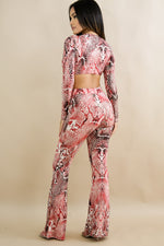 Sassy Snake Pant Set RED
