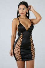 Seductive Mini Dress BLACK