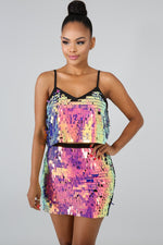 Shake It Sequin Set MULTI PRINT