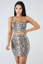 Snakeskin Skirt Set SNAKE