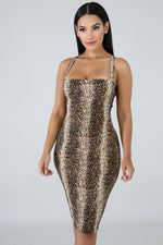 Sneaking Through Body-Con Dress LEOPARD