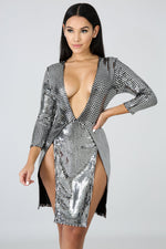 Soulmate Mini Dress SILVER