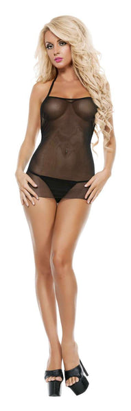 Starline Sheer And Straps Chemise And Thong