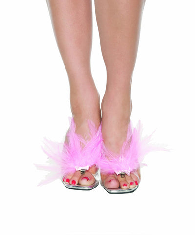 Pink Feather Shoe Accessory