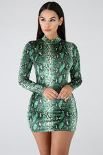 Stealing The Night Body-Con Dress GREEN