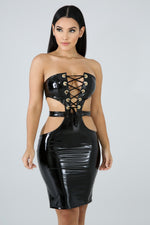 Strap Queen Body-Con Dress BLACK