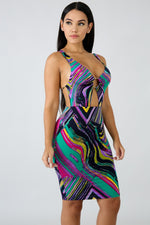 Swirl Surge Body-Con Dress PURPLE