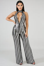 Talk To Me Baby Jumpsuit SILVER BLACK
