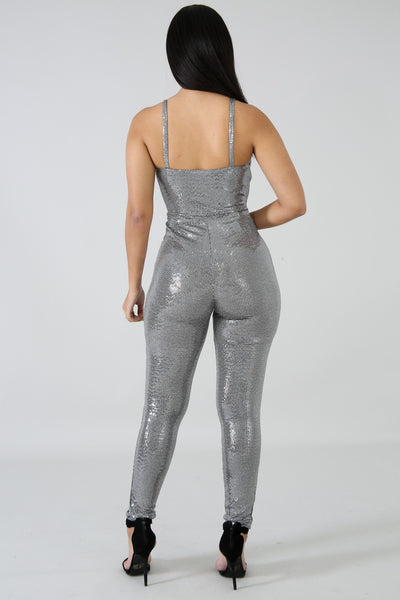 The Party Has Arrived Jumpsuit SILVER