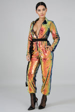 Ultimate Show Stopper Jumpsuit MULTI PRINT