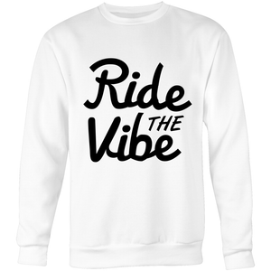 Black Clean RTV - Krew Neck Sweatshirt - Ride The Vibe