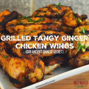 Grilled Tangy Ginger Chicken Wings
