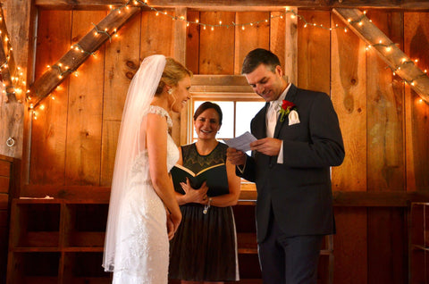 Pat reading his vows trying not to stumble over his words