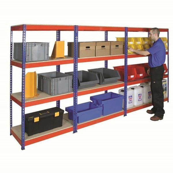 Heavy Duty Rivet Shelving with MFC Shelves