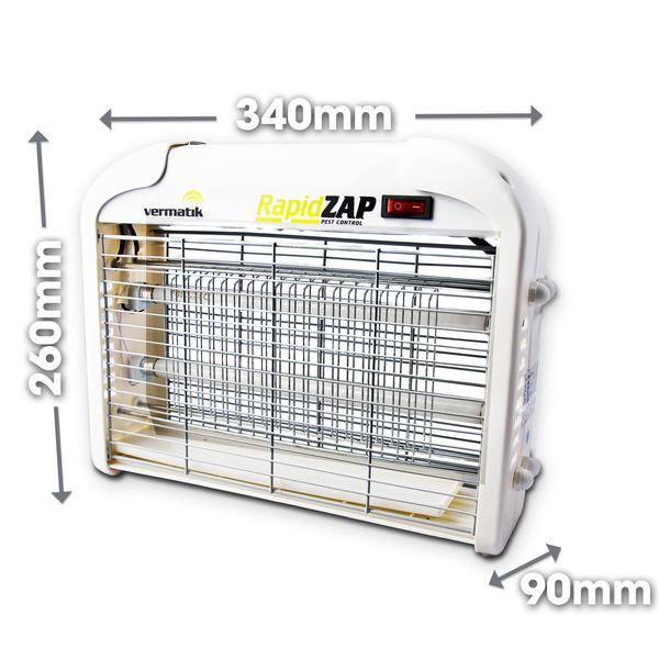 COMBO DEAL *SAVE!* - Vermatik RapidZAP 16W Electric Fly Zapper + 1m x 2m Anti-Insect PVC Strip Curtains