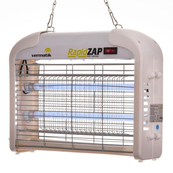 COMBO DEAL *SAVE!* - Vermatik RapidZAP 16W Electric Fly Zapper + 1m x 2m Perforated PVC Strip Curtains
