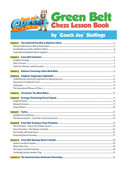 Green Belt Chess Lesson Book