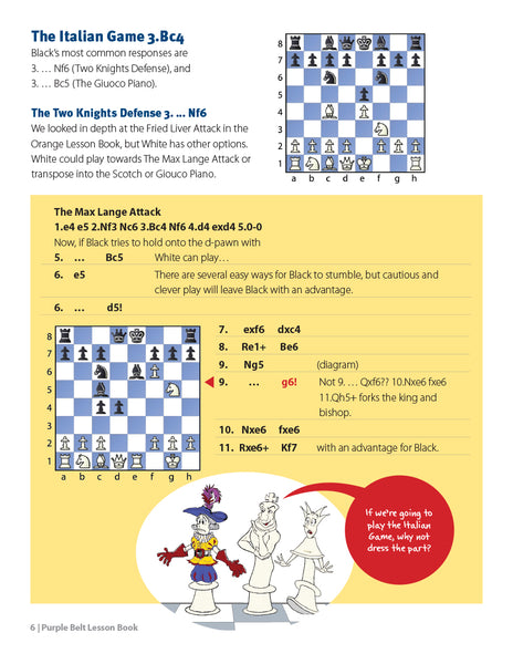 Purple Belt Chess Lesson Book