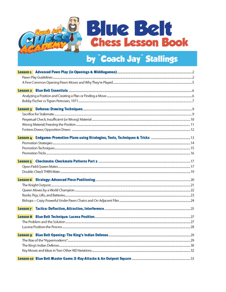 Blue Belt Chess Lesson Book
