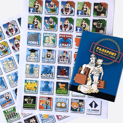 Chess Passport and Sticker Set