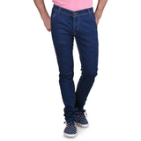 Men's Stretchable Basic Solid Blue Jeans