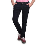 Men's Stretchable Basic Solid Dark Blue Jeans