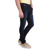 Men's Stretchable Silky Raw Wash Semi Dark Blue Jeans