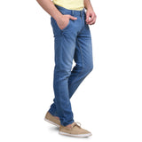Men's Stretchable Dobby Light Sky Jeans