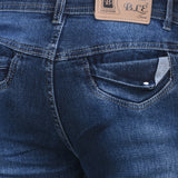Men's Stretchable Silky Raw Wash Blue Jeans