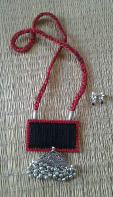 Red & Black Handcrafted Necklaces
